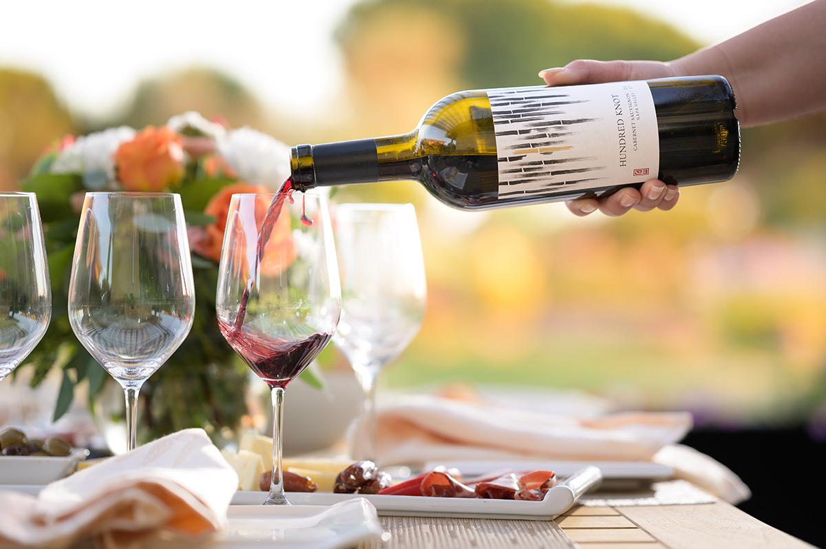 Hundred Knot Cabernet Sauvignon Wine Pour