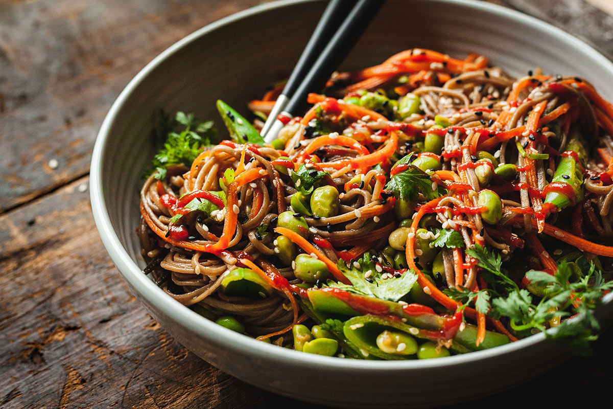 Spicy Asian noodle dish pairing