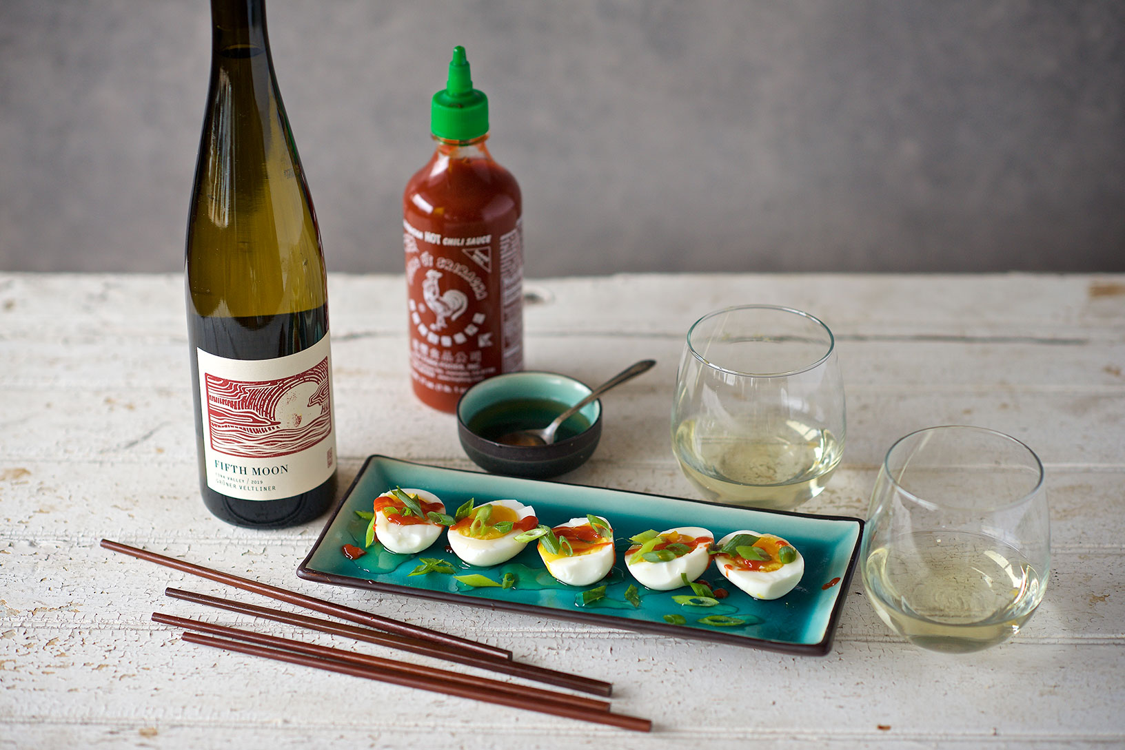 RD Winery Grüner Veltliner with 6-Minute Eggs
