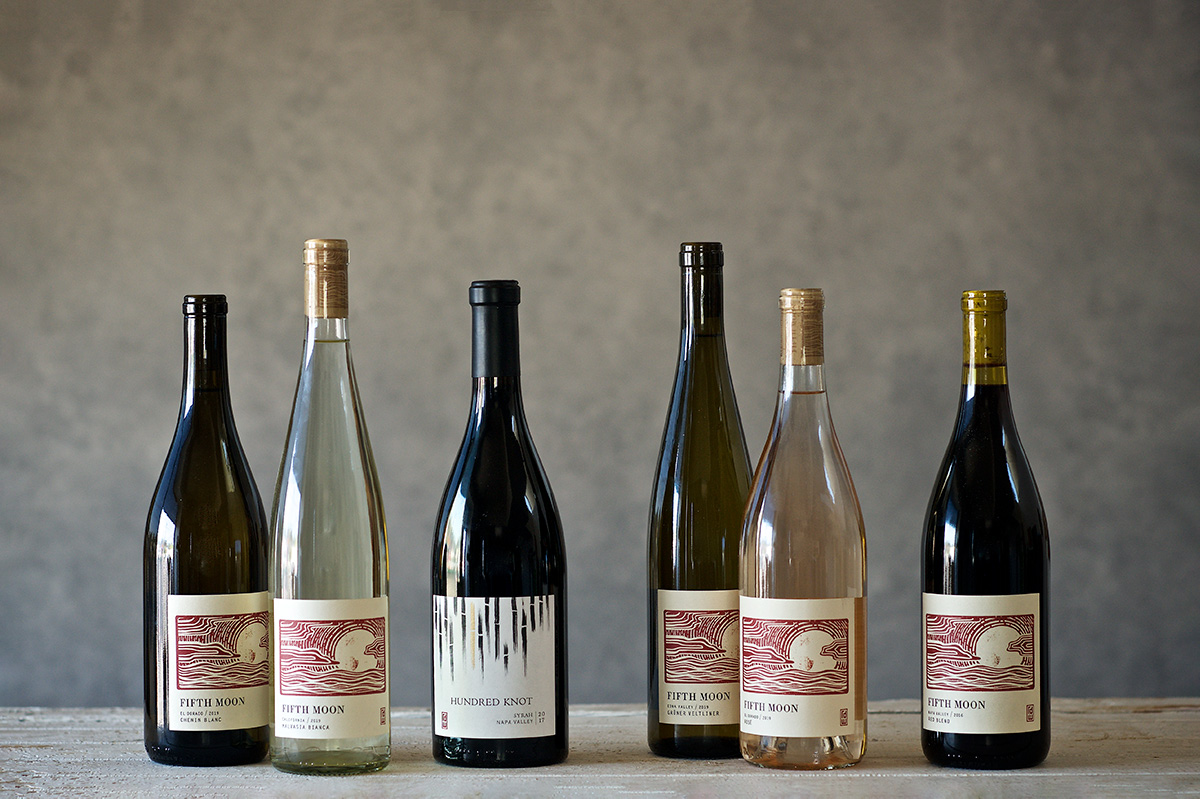 Line up of RD Winery wines