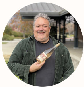 Timothy Milos with RD Winery Rosé