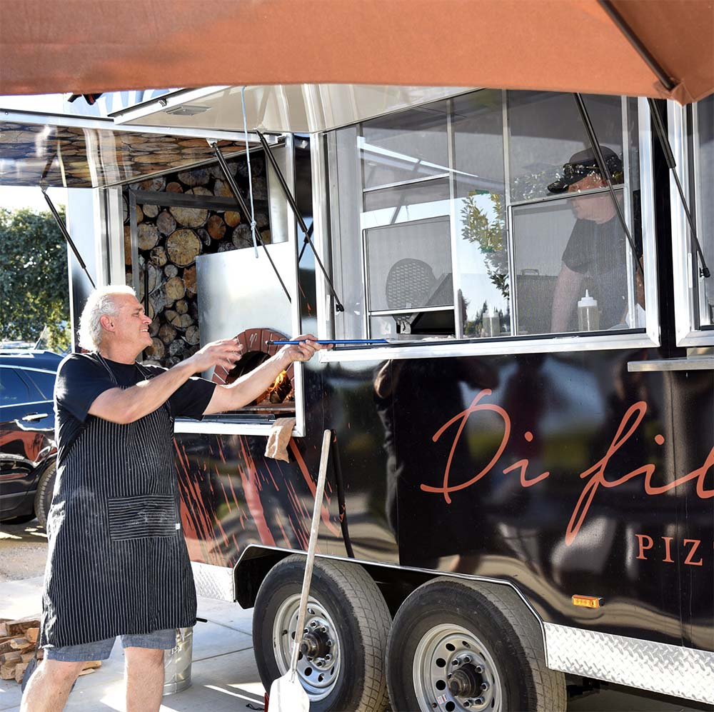 Napa winery festical pizza