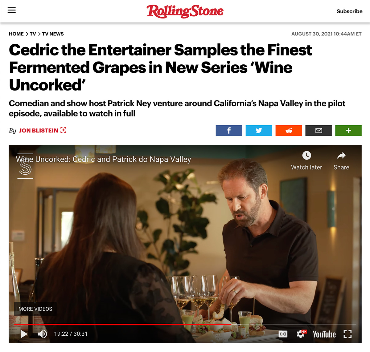 RD Winery Feature in Rolling Stone